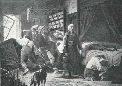 Tableau d'Adolphe Yvon - Le curé de Bazeilles.