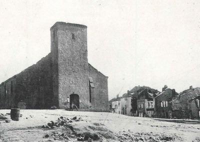Eglise de Bazeilles après les combats.