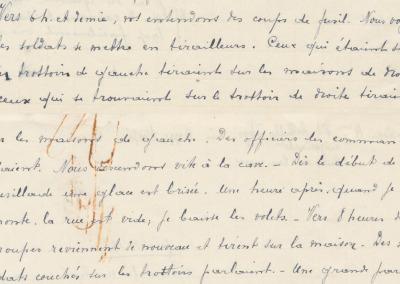 Extrait - Déposition de Mme veuve Achille-Thys.