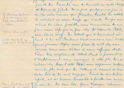 Extrait - Déposition de Mme veuve Walgraffe.