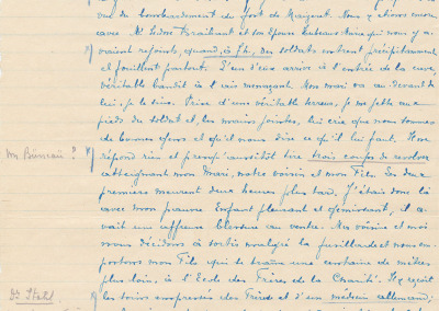 Extrait - Déposition de Mme veuve Bertrand.