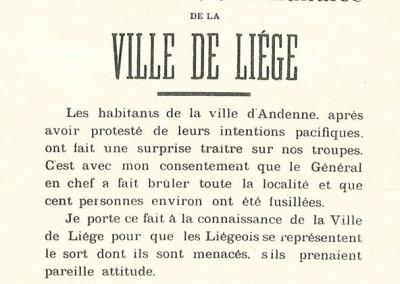 Reproduction d'une affiche du 22 août 1914.
