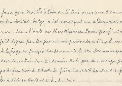 Extrait - Déposition en 1919 de l'abbé Thys, curé de Seilles.