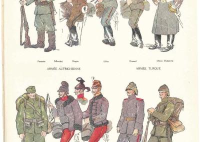 Tenue de campagne des armées allemandes en 1914.