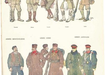 Tenue de campagne des armées alliées en 1914.