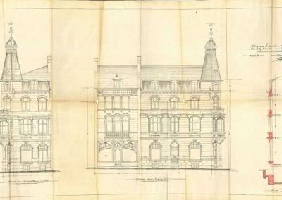 Plan de la pharmacie Guilitte devant laquelle fut retrouvé le corps du Bourgmestre Jules Camus.