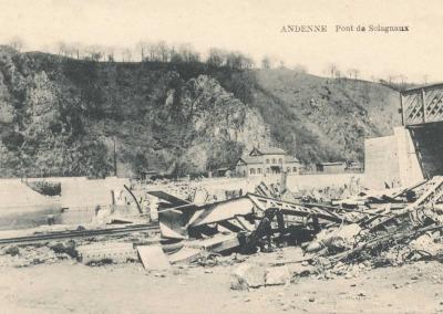 Carte postale du pont de Sclayn.