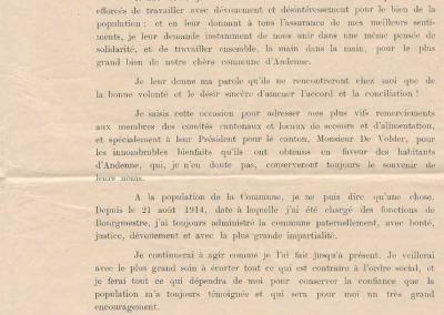 Déclaration de M. De Jaer