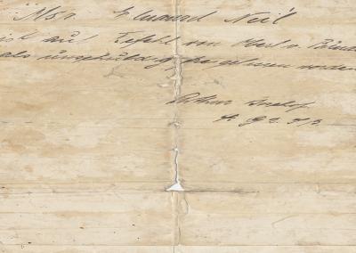 M. Édouard Noël sur ordre du commandant von Bünau est déclaré innocent et libéré (signé Arthur Bischof. 4 G.2.J.B.). Le sauf-conduit donné à Édouard Noël-Bouhisse.
