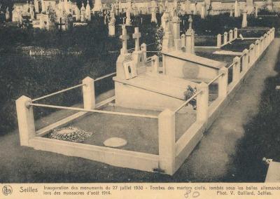 Tombes des martyrs civils, tombés sous les balles allemandes.