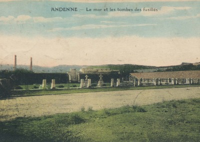 ANDENNE - Le mur et les tombes des fusillés